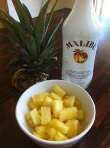 Drunken' Pineapple - Malibu Rum soaked Pineapple...so easy, so good!