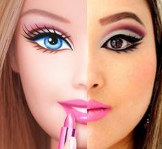 barbi obsess, marvel makeup, barbie make up, barbi makeup, makeup looks, beauti, barbi inspir, inspir makeup, barbie inspired makeup