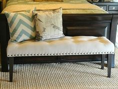 DIY DROP CLOTH BENCH FOR THE MASTER BEDROOM