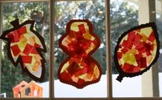 Fall Craft for Toddlers and Preschoolers: Leaf Sun Catcher | Fantastic Fun & Learning