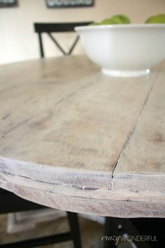 Crazy Wonderful: bleached wood look with liming wax
