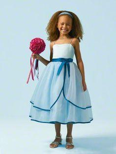 Satin Organza Tea Length Dress | Flower girl