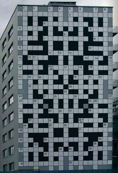 Crossword puzzle building, Lviv, Ukraine.