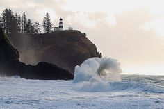 Cape Disappointment Lighthouse, Cape Disappointment State Park, Washington.