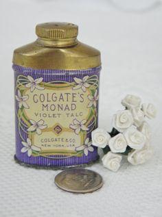 Vintage Talcum Powder Tin,