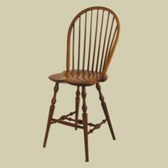 Classic Colonial Bow-Back Windsor Counter Stool