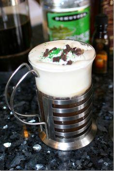Thin Mint Irish Coffee Recipe, try this with your favorite dark roast PJ's coffee!