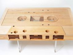 Cassette Tape Retro-riffic Coffee Table