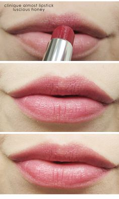 NEW Clinique Almost Lipstick in luscious honey