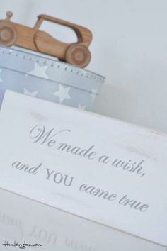 """DIT - """"We made a wish, and YOU came true""""   #projectnursery #franklinandben #nursery"""