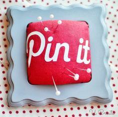 "DIY ""Pin It"" Pinterest Pin Cushion"