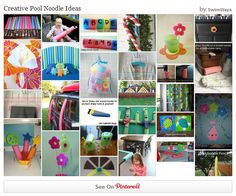 SwimWays - Creative Pool Noodle Ideas - What do you do with lots of noodles when summer is over? Here are some of our favorite ideas from around the web! noodl idea, noodl craft, pool noodles, creativ pool
