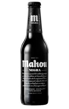Mahou Negra. #beer #beverage #packaging