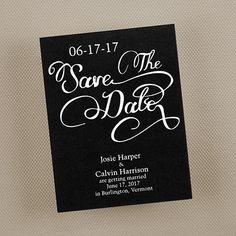 Script Save the Date - Black