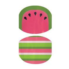 Watermelon Stripes  nail wraps by Jamberry Nails