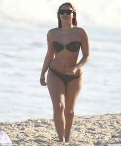 Demi Lovato... perfect size... she still has her curves and looks beautiful :)