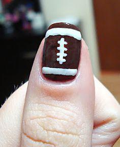 Football nails.