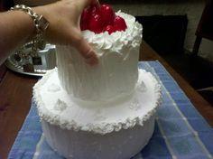 cute, bakery display style fake cake