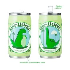 percival the dino and baxter the brontosaurus water bottle by beatrix new york