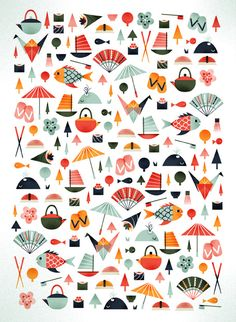 Tokyo by Sol Linero #pattern #illustration
