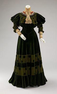 1890's dinner dress.