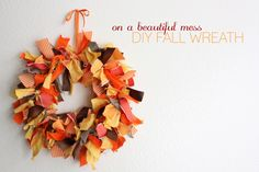 Fall Wreath of Rags