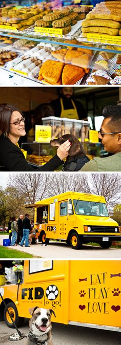 Fido To Go.  Eat Play Love  A food truck for dogs. Adorable concept! popuprepublic.com