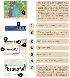 Woody Words ~ Awesome tool to turn your Promethean Board into an Interactive Word Wall/Vocabulary Board. Free!