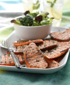 Grilled Spiced Sweet Potato Slices
