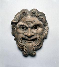 Mask Terracotta,roman or greek ? Cleveland Museum