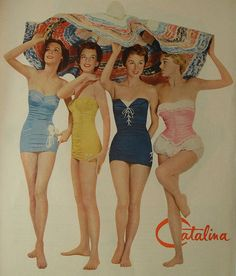 50s swimsuits #50sfashion #vintageswimwear #vintageswimsuits #1950s