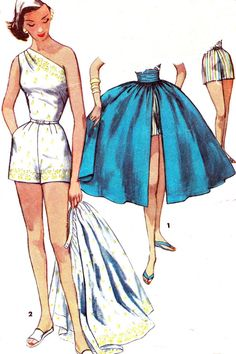 Vintage Sewing Pattern 1950s Simplicity 1605 One by paneenjerez, $40.00