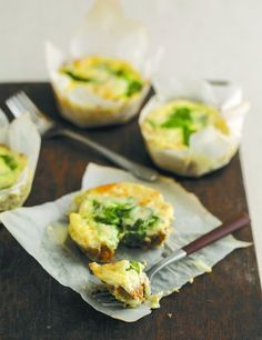 Recipe: Mini Spinach Quiches with Flax Crust