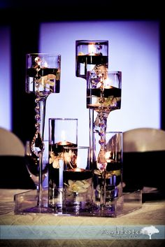 Centerpieces - Crystals hanging - Manisha Auntie