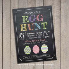 Egg hunt invitation / Easter egg hunt by LittleApplesDesign, $12.00