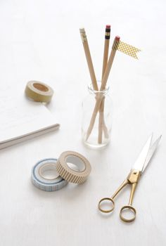 washi tape + pencils