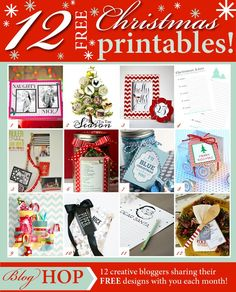Several free printables for the holidays