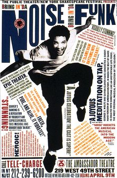 Paula Scher - 1995 - Part of 'Bring in Da Noise Bring in Da Funk' Series