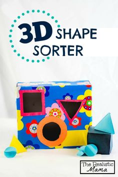 MAKE YOUR OWN 3D Shape Sorter with FREE Printable - what a fun idea! #preschool #education (repinned by Super Simple Songs)