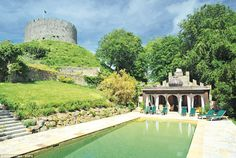 Grounds: In the shadow of the keep is an outdoor pool, built in the 19th Century to commemorate an 1812 visit by George IV, then Prince Rege...