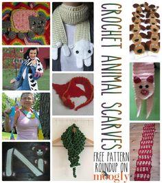 10 Free Crochet Animal Scarf Patterns!