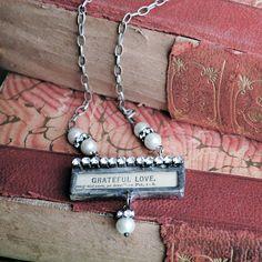 grateful love, soldered necklace