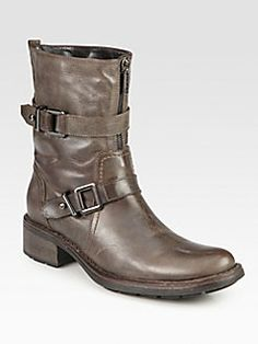 Oooh- I want these!!   Aquatalia by Marvin K - Sacks Leather Buckle Boots