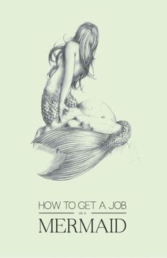 how to get a job as a mermaid