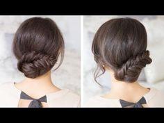 Recogido con trenza espiga - Peinados Magazine