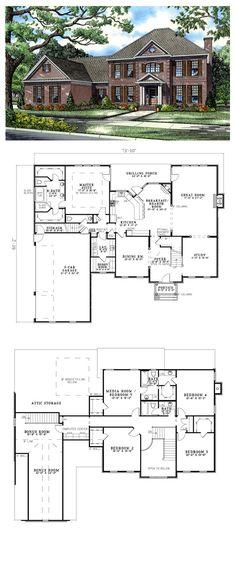 Plantation House Plan 82126 | Total Living Area: 3978 sq ft, 5 bedrooms & 3.5 bathrooms. #plantationhouse #houseplan