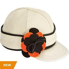 The Stormy Kromer Petalpusher cap, made in Ironwood Michigan. Now with Hurley school colors orange and black.