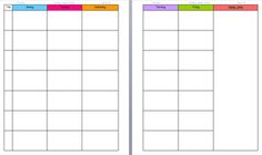 Lesson Plan Template for Binders - Free