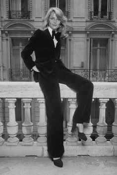 Charlotte Rampling in a tux...she's got good hair, too.....