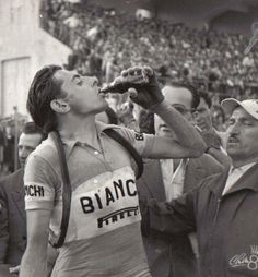 "Fausto Coppi ""The Campionissimo"" (1919-1960, Ital) - Coppi won his first major victory in 1940 at the age of 20 and his last in 1954 at the age of 35."